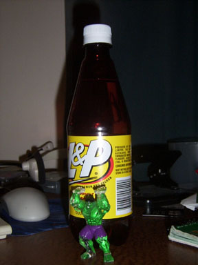NZ bottle L&P lemon and paeroa drink
