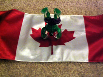 canada canadian flag handstand